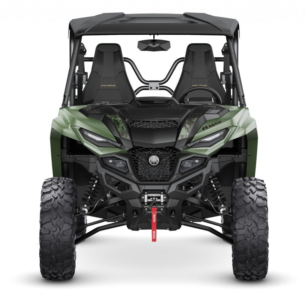 2021 Yamaha Wolverine RMAX2 1000 XT-R in Covert Green - Front