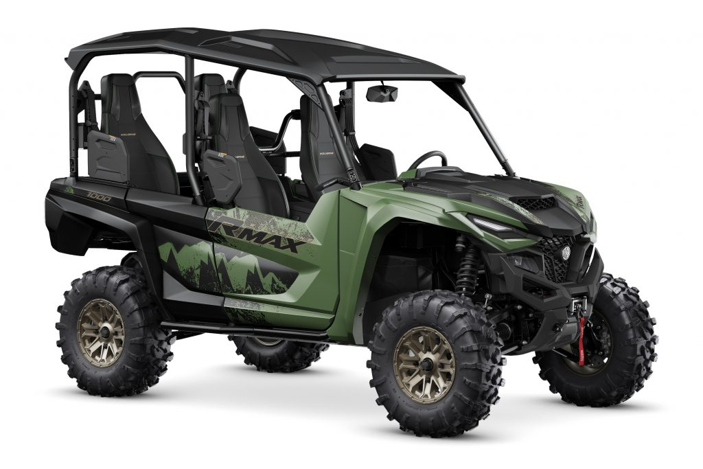 2021 Yamaha Wolverine RMAX4 1000 XT-R in Covert Green